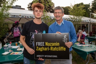 Stand Up In The Park, 7th July 2019 in aid of the Free Nazanin campaign. Organised by Cardiff Amnesty. Natasha Hirst Photography