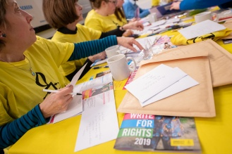 Amnesty Cardiff, Write for Rights evening. Chapter Arts Centre. Natasha Hirst photography, 9th December 2019